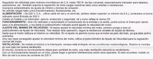 Regulador Velocidad Motor. Explicación en español