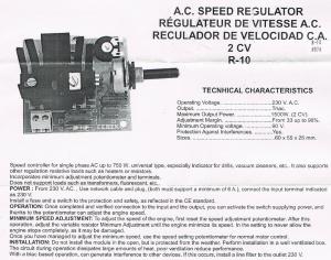 Regulador Velocidad Motor