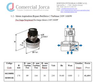 Catálogo Motor spiradora